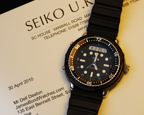 Seiko model SPW001, case H558-5000 James Bond watch