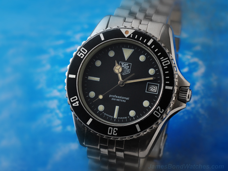 """TAG Heuer Professional diver's 980.013 James Bond watch, """"The Living Daylights"""""""