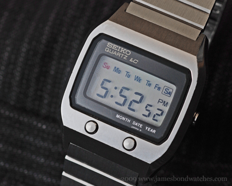 Seiko case number 0674-5009, model DK001 LCD James Bond wristwatch, The Spy Who Loved Me