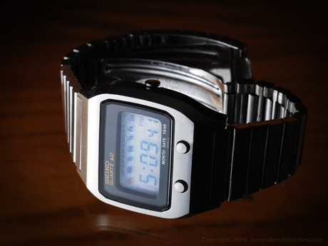 Seiko case number 0674-5009, model DK001 LCD James Bond watch, The Spy Who Loved Me