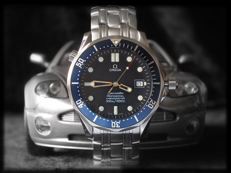 "Omega 2531.80 Seamaster James Bond watch, with Aston Martin image, ""Die Another Day"""
