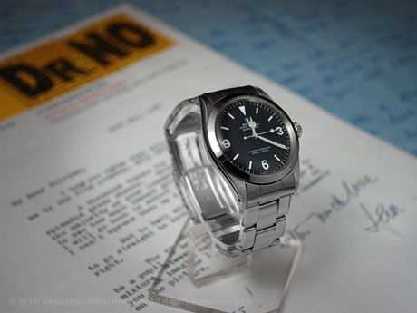 Ian Fleming's personal Rolex 1016 Explorer, the original James Bond watch, with actual letters written by Mr Fleming; image 460x345