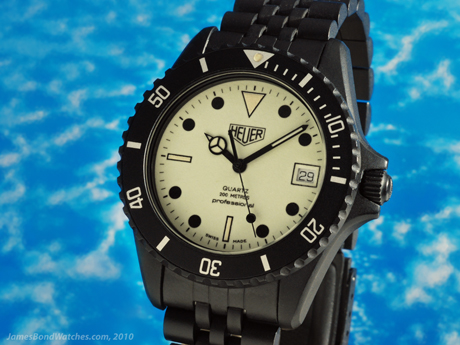 "TAG Heuer 980.031 PVD Night Dive James Bond watch, ""The Living Daylights"""