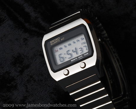 Seiko case number 0674-5009, model DK001 Quartz LC James Bond watch, The Spy Who Loved Me