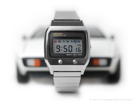 Seiko LC Quartz James Bond watch, The Spy Who Loved Me, with Lotus Esprit