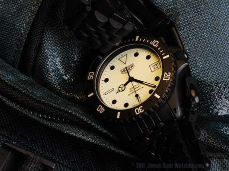 "Heuer 980.031 Night-Dive James Bond watch, ""The Living Daylights"""