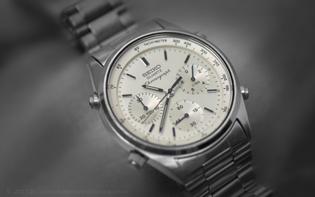 "Seiko Quartz Chronograph, primary James Bond watch featured in ""A View to a Kill"""